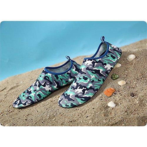 Eagsouni® Barfuß Haut Schuhe Aquaschuhe Strandschuhe Wasserschuhe Surfschuhe Badeschuhe für Damen Herren #3Blau