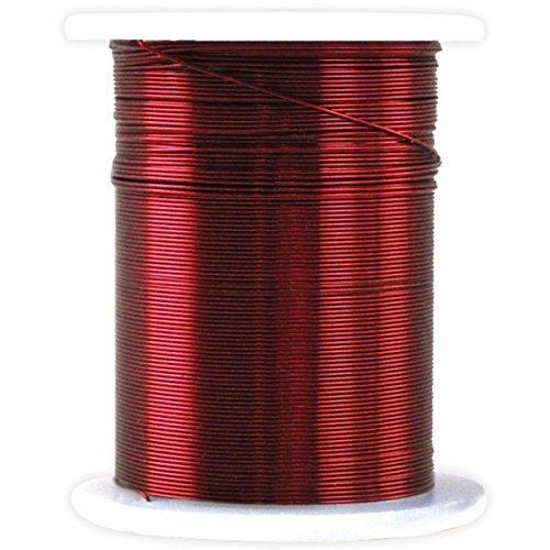 métallique Perles et bijoux Fil de calibre 28 32 '/Pkg - Rouge par Multicraft Imports Collerettes