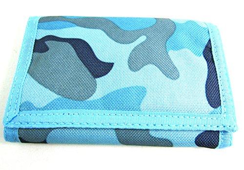 Herren Jungen Camouflage RIPPA New Canvas-Geldbörse Münzfach Kreditkarte Halter Armee, Blau (Tri-fold Kreditkarte)