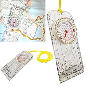 UNIBOS DELUXE COMPASS - FOR MAP READING, WALKING & HIKING
