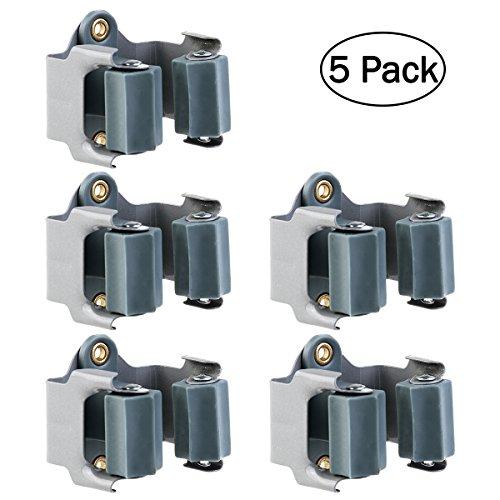 OUNONA 5 unidades Colgador Escobas adhesivo soporte
