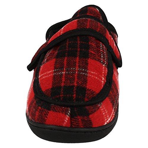 Spot On , Sandales Compensées femme Rouge écossais