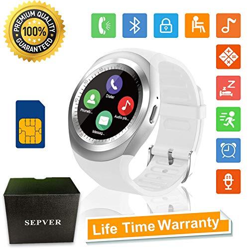 Reloj Inteligente Smartwatch Redondo con Podómetro de Pantalla Táctil con Ranura para...