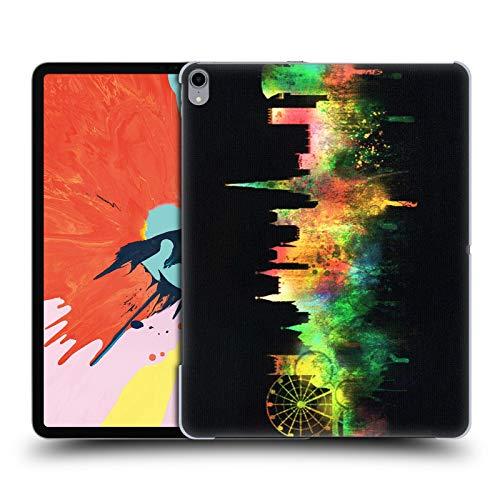 Head Case Designs Offizielle Ali Chris Schwarz Stadtbild Aquarell Kartensammlung Harte Rueckseiten Huelle kompatibel mit iPad Pro 12.9 (2018)