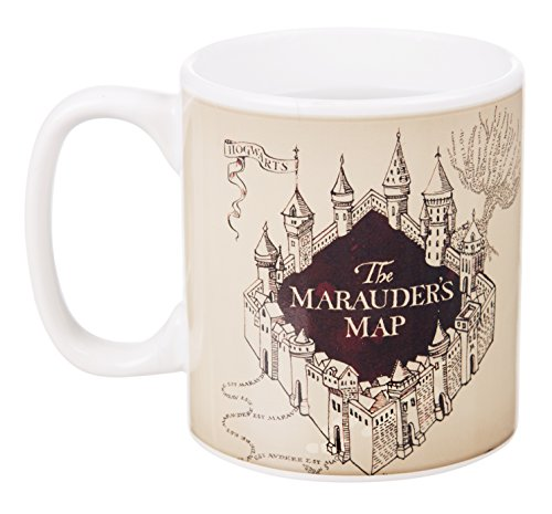 Harry Potter Marauders Map carte du Maraudeur tasse thermo magique