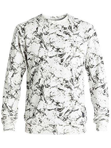 Herren Sweater DC Lenox Sweater lily white storm print
