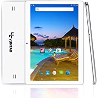 Yuntab K107 10.1 pollici IPS 3g tablet Android 5.1 Quad Core CPU MT6580 Cortex A7 PC tablet sbloccato, 1G + 16G, HD 800x1280, Doppia fotocamera, WiFi, Bluetooth, GPS, Supporto Dual SIM Card(bianca)
