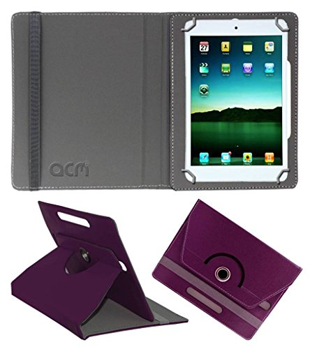Acm Rotating Leather Flip Case for Tescom Bolt Tablet Cover Stand Purple  available at amazon for Rs.149