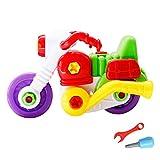 Eizur DIY Assemblea Moto Vite Costruzioni Giocattoli Plastica Intelligenza Educativi Puzzle Combinazione Giocattoli Estraibile e staccabile per Bambini