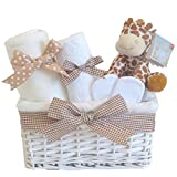 Mr Giraffe Newborn Baby Hamper Unisex Gift Basket Boy Girl⼁Shower Present Gifts for New Born Babies Unique Arrival Baskets Hampers Gender Neutral Set Boys Girls Jungle Presents Ideas ⼁FAST DISPATCH