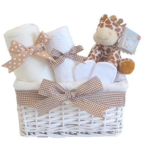 Coupon Matrix - Mr Giraffe Newborn Baby Hamper Unisex Gift Basket Boy Girl⼁Shower Present Gifts for New Born Babies Unique Arrival Baskets Hampers Gender Neutral Set Boys Girls Jungle Presents Ideas ⼁FAST DISPATCH