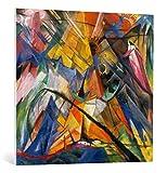kunst für alle Leinwandbild: Franz Marc Tirol - Hochwertiger Druck, Leinwand auf Keilrahmen, Bild fertig zum Aufhängen, 95x90 cm
