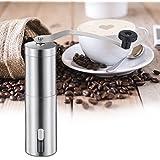 Molinillo de Café Manual – ZWOOS Molinillo de Grano de Caféde Acero Inoxidable Cerámica Ajustable para Finura y Capacidad 30g de Polvo de Café