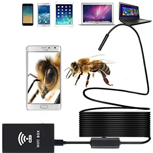 WiFi Endoskop 2.0 Megapixel HD Inspektionskamera mit 8 LED und Halbsteif Kabel IP68 Wasserdicht & Endoskopkamera Rohrkamera für Android & iOS Handy/Tablet (1m/2m/3.5m/5m/10m) - Model: f140,1M