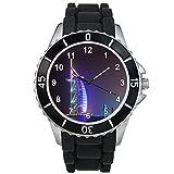 Timest - Dubai Hotel Burj Al Arab - Unisex Reloj con Correa de Silicona negro Analógico Cuarzo CSE016b