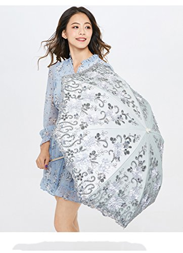 XFF Tianshui princesa paraguas de sol sombrillas paraguas UV paraguas bordado de vinilo de encaje paraguas mujeres 20 por ciento,segundo,flor