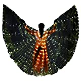 Danzcue Transparente Kostüm Engel Led Flügel Mit Sticks-Gold