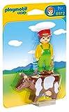 Playmobil 1.2.3 - 1.2.3 granjero con vaca (6972)