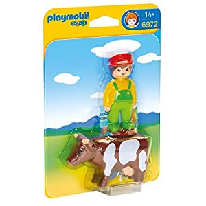 Playmobil 6972 1.2.3 Farmer with Cow