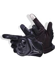 Paire Noir Gants Doigt Complet Protection L Moto Vélo Sport Femme Homme Moto gants de protection Fonctionnement de l'écran tactile