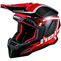 Hebo MX Legend Carbon Casco Enduro, Adultos Unisex, Rojo, Medium