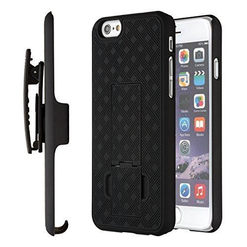 Moona Schutzhülle für iPhone 6S, mit Ständer und Gürtelclip, für Apple iPhone 6S/6, 4,7 Zoll (4,7 cm), 10 Jahre Garantie iPhone 6 Gürtelclip Hülle, iPhone 6 Hülle, iPhone 6S dünne Hülle