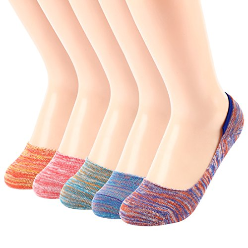 Women Cotton No Show Loafers Boat Socks Liner Low Cut Non Slip