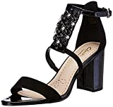Clarks Women's Demerara Swirl Combi Sde Black Fashion Sandals - 6 UK/India (39.5 EU) at amazon