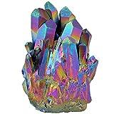 mookaitedecor Energie Steine und Kristalle Geode Druse Kristall Deko Quartz irregulier für Haus Decoration, 01-arc en Ciel(30-60mm)
