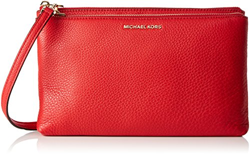 Michael Kors Damen Adele Umhängetasche, Rot (Bright Red), 4x8.5x17 centimeters (Adele Clutch)