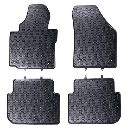 Preisvergleich Produktbild Gummimatten Gummifußmatten 4-teilig passend für VW TOURAN I II 2003-2015 + 4x Clips