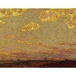 Das Museum Outlet–Sunset at Gerberoy, 1913(Sotheby 's Vers.), gespannte Leinwand Galerie verpackt. 29,7x 41,9cm