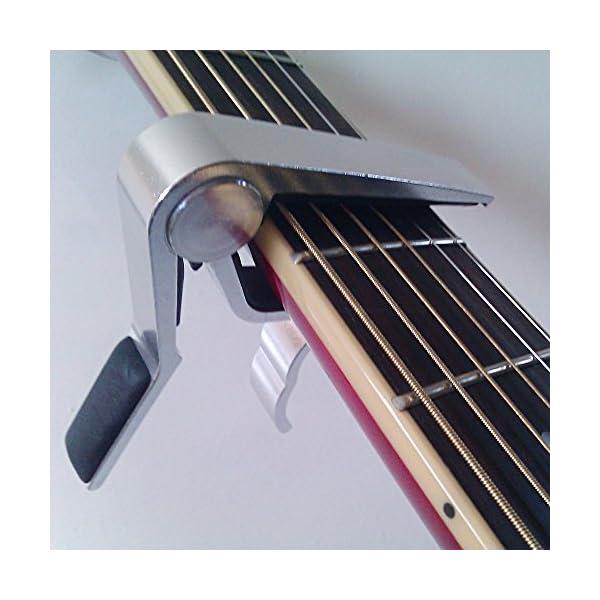 Anpro Capotasto per Chitarra Acustica / Chitarra Elettrica, Capotasto Professionale di Alluminio per Chitarre