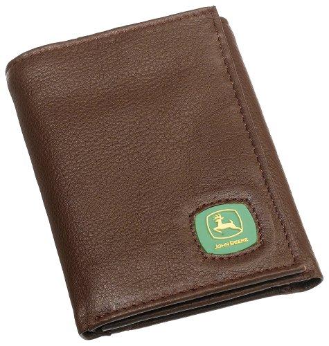 john-deere-mens-leather-pebblegrain-trifold-wallet-brown