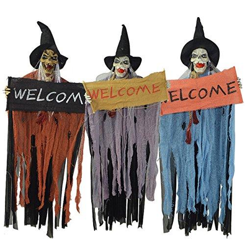 THEE Halloween Hängende Sprechen Hexe Animierte Geisterhaus Dekoration (Random ()