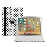 Neues 2017 iPad hülle, Avril Tian 360 Grad drehbar Multi Winkel Bildschirm Schutz Flip Folio Magnetisch Stand Smart Schutzhülle Case Cover für Apple 2017 Neue iPad 9.7 Zoll Tablette