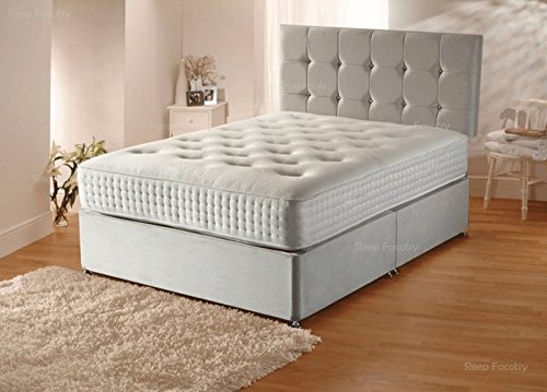 plush velvet divan bed set with orthopaedic and 2 free bed drawers 5ft kingsize 150cm by 200cm amazoncouk kitchen u0026 home
