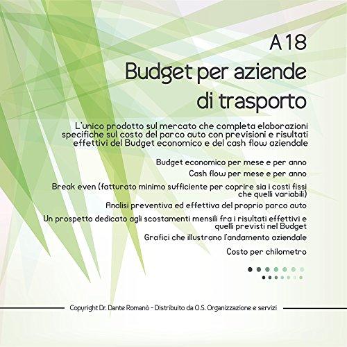 A18 Budget e Cash Flow per Aziende di Trasporto