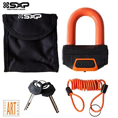 SXP Orange Bremsscheibenschloss Bremsscheiben Motorrad Locker Schloß Motorradschloss Rollerschloss U-Lock ø14.5mm