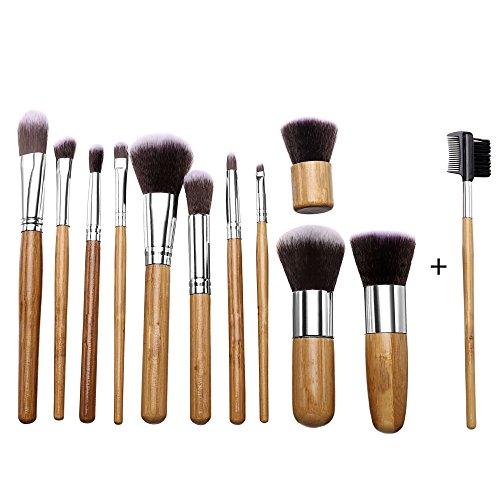 Yoliki 12tlg Schminkpinsel Pinselset Kosmetikpinsel Kosmetikum Make Up Schminken Bürste