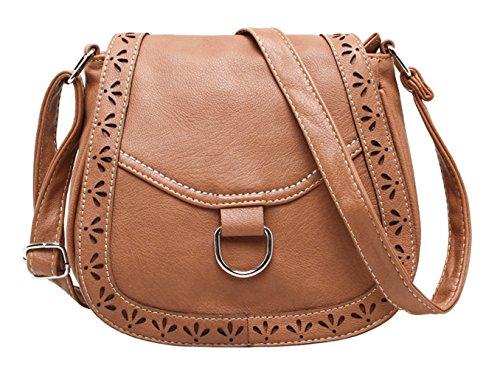 Keshi Niedlich Damen Handtaschen, Hobo-Bags, Schultertaschen, Beutel, Beuteltaschen, Trend-Bags, Velours, Veloursleder, Wildleder, Tasche Tiefbraun