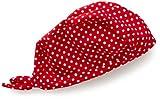 Playshoes Unisex - Kinder Mütze, gepunktet UV-Schutz nach Standard 801 und Oeko-Tex Standard 100 Kopftuch in rot mit weißen Punkten 461037, Gr. 51, Rot(8 rot)