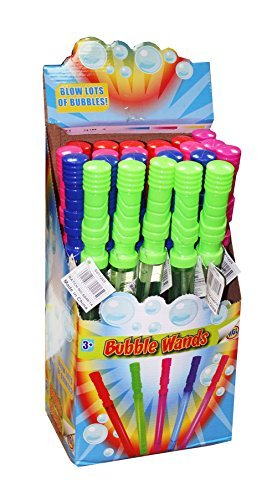 24 X Burbuja ESPADAS VARIOS COLORES Bubble Magic 110ml - Al Por Mayor CAJA