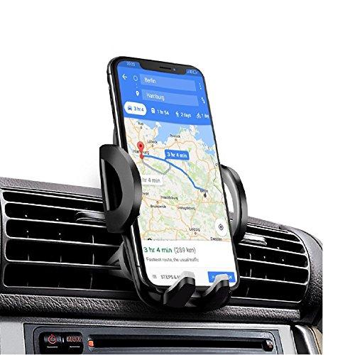 iAmotus Universal Autohalterung 360°Drehung Kfz Halterungen Auto Lüftung Handyhalterung für iPhone X 7 6s 6 plus SE 5 5s 5c 4 4s Samsung Galaxy S8 S7 Edge S6 S5 S4 Smart phone GPS Gerät