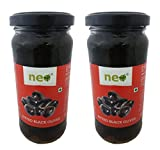 #2: Neo Pitted Black Olives 220 gm (Pack of 2)