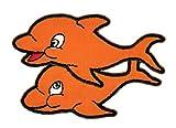Naranja parche plancha de planchar Iron on patches applikation Delfín Delfín Niños