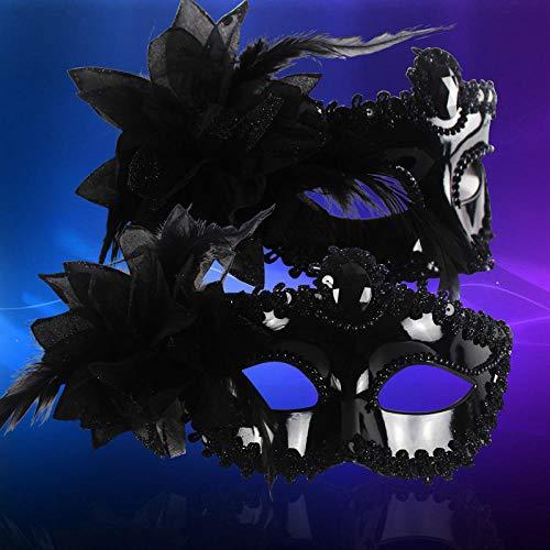 QTJKH Horror Maske Venezianische Maskerade Frauen Maske Hochzeit Jahr Party Make-Up Lady Masquerade Masken @ A