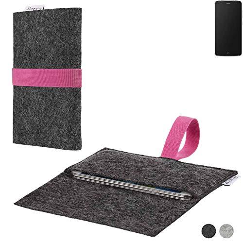 flat.design Handy Hülle Aveiro für Alcatel Flash passgenaue Filz Tasche Case Sleeve Made in Germany