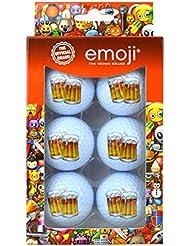 Emoji Unisex 6Pack cerveza diseño divertido pelotas de golf, multicolor