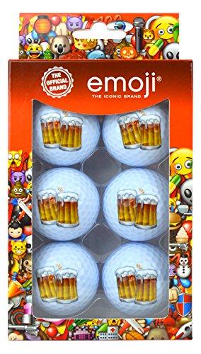 Emoji-Unisex 6Pack Bier Novelty Fun Golf Bälle, mehrfarbig (Six Pack Bier)